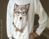 Wolf - White Sweatshirt No Transfer