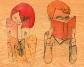 I think Im in love - Wood Paper Print