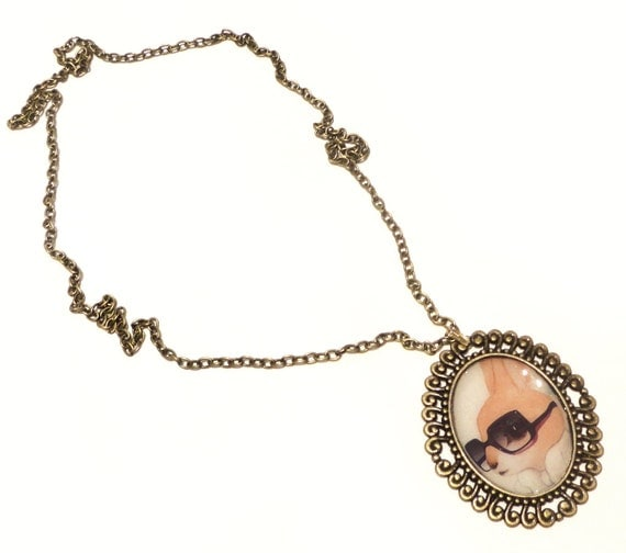 Honey Bunny Art Necklace Ltd Edition.