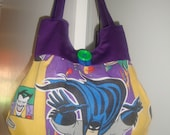 Batman Purse made from Re-purposed Fabric