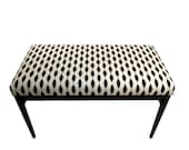 Upholstered Bench - Modern Black and White Indoor Bench