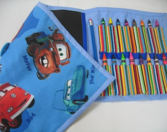 40% OFF Blue Mater Art Tote complete with chalkboard, chalk, eraser, paper pad, pencil, crayons, and colored pencils