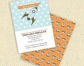 DIY Printable - It's a BOY -  Rocket Ship -  Baby boy shower invitation