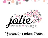 RESERVED Custom Listing for Gepperly