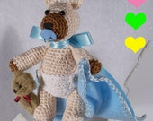 Sweet Baby Bear Crocheted Miniature Keepsake Ornament, Baby's First, New Baby