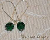 Emerald Green Sky Earrings