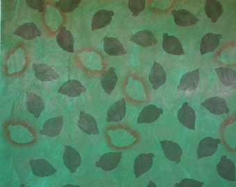 Airbrushed green/brown leaves - 444