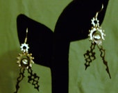 Geared Up Serpentina Noir Clock Hand Earrings FREE SHIPPING in the USA
