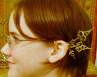 BRASS Steam Fae Clockwork Wings Mariposa- Over The Ear Cuff Set Steampunk Accessory