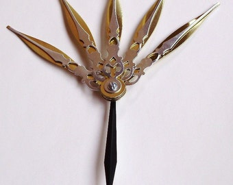 Majesty Hair Pick Steampunk Accessory- Precious (Gold and Silver)