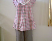 Fab 50s Vintage Pink and Grey Maternity Dress Vintage Rockabilly Maternity Top Skirt and Pants 3 Piece Outfit New Old Stock Very I Love Lucy