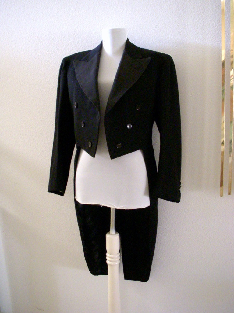 Reserved Vintage 40s 50s Black Tuxedo Jacket With Tails