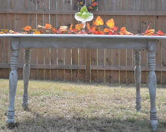SOLD// Shabby Chic, French Country Farm Table