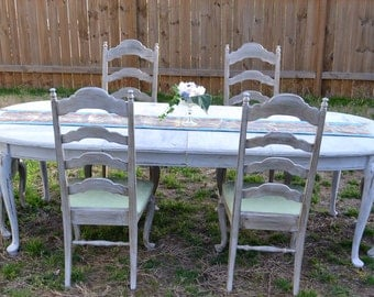 SOLD Shabby Chic, French Country Ethan Allen Table and Chairs