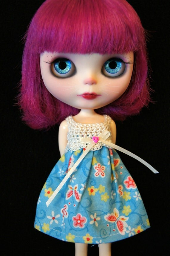 Blythe Rag Bag Designs Butterfly Dress