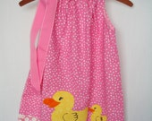 All the Little Ducks in a Row Pillowcase Dress