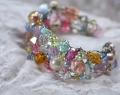 Jewels and Gems Glamorous Princess Cuff Bracelet