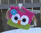 Girls Owl Purse -- Made to Order