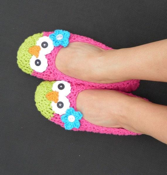 WOMENS Owl Ballet Slippers -- Custom Made to Order