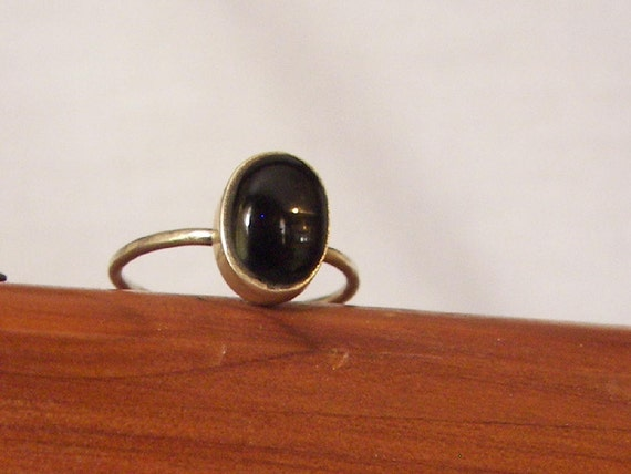 black onix with silver ring