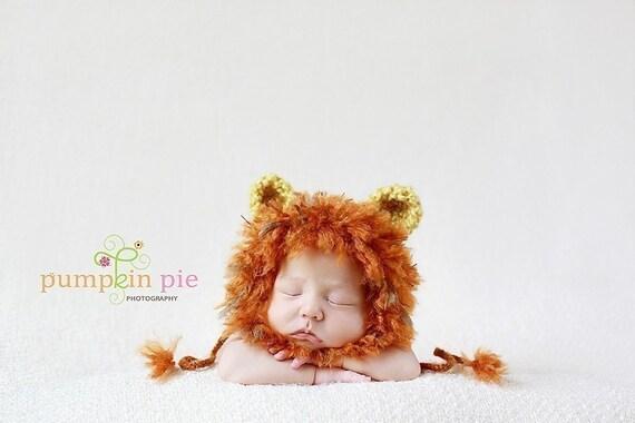 PDF Crochet Pattern/Tutorial-Baby Lion Hat