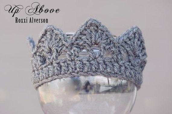 Crochet Pattern Newborn Crown : PDF CROCHET PATTERN Newborn Jeweled Crown