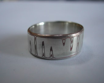Mokume Gane Ring in sterling/copper