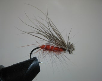 Orange caddis fly Woodys Flies, Tentwing for Trout and Bluegill, great in Autumn