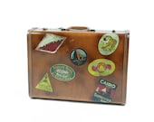 Vintage Antique Hard Case Luggage Travel Stickers Royal Traveller RESERVED For YMajor