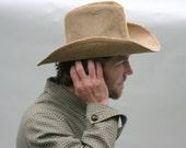 Vintage Cowboy Hat Corduroy Camel Mens