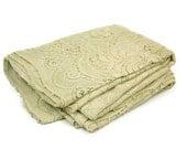 Vintage Tablecloth Fillet Lace Ecru Gorgeous