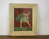Vintage Paint By Number Ballet Dancer Framed