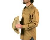 Vintage Mens Shirt Pendelton Wool Camel