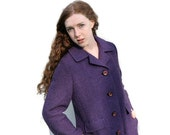 Vintage 1960's Swing Coat Purple