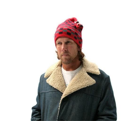Vintage Mens Jacket Coat Hipster Denim Faux Fur