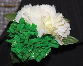 St.Patricks Day carnation corsage/Boutonniere