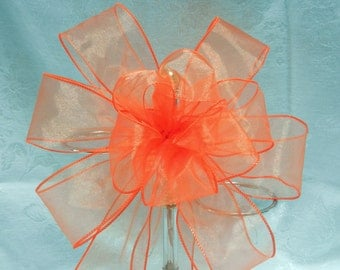 orange Wedding/ Pew Bows set of 12 Colors can be mixed and matched