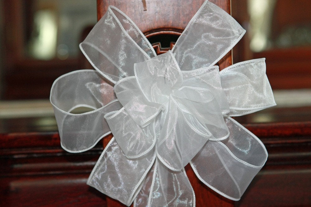 how to make wedding pew bows out of ribbon