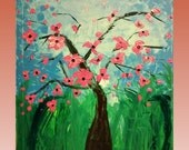 Pallet Knife Floral Abstract Art Home Decor