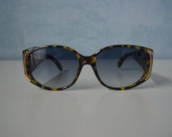 Vtg Oversized Sunglasses GIORGIO Beverly Hills Turtle shell no.GS603098