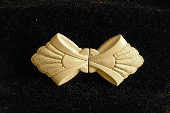 1940's Deco Celluloid Gold Color Garment Closure/ Belt Buckle