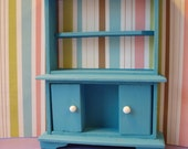 Dollhouse Miniature Bookshelf/Entertainment Cabinet