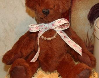 Handcrafted Medium Brown Teddy Bear