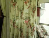 Vintage shabby chic flower window curtain's