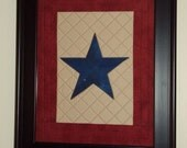Small Blue Star Service  Banner (Unframed)
