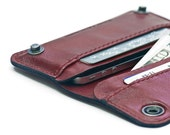 iPhone / iPod Touch - - RETROMODERN leather wallet - - RED