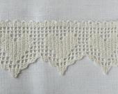 White lace hand crochet hearts edge trim wedding decor