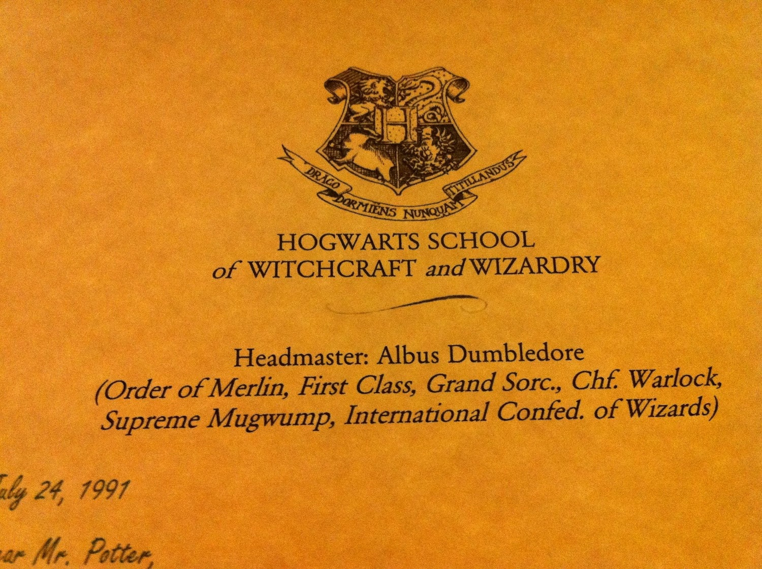 Personalized harry potter acceptance letter great gift for Harry potter personalized letter