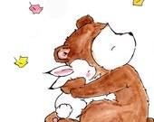 Bear Hug -- Archival Print