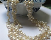 "Triple-Stranded Freshwater Pearl Necklace - ""Pretty Please"""